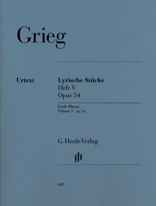 Edward Grieg - Lyrische Stücke Heft 5 Opus 54 - Partitura - di-arezzo.es