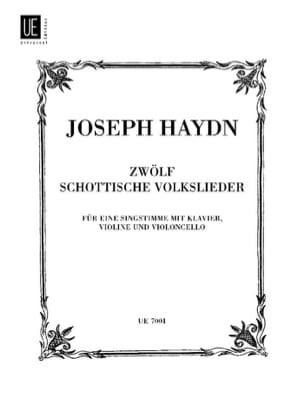 12 Schottische Volkslieder HAYDN Partition laflutedepan