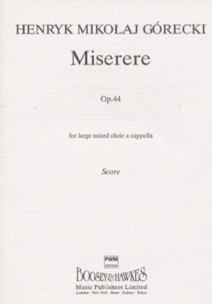 Henryk Mikolaj Gorecki - Miserere Opus 44 - Sheet Music - di-arezzo.co.uk