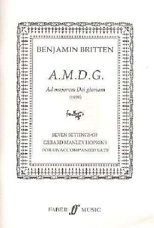 A.M.D.G. BRITTEN Partition Chœur - laflutedepan