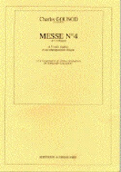 Charles Gounod - Messe N° 4 Ut Majeur - Partition - di-arezzo.fr