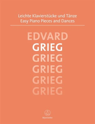 Easy Piano Pieces and Dances GRIEG Partition Piano - laflutedepan