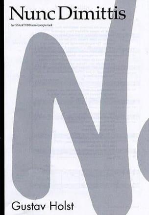 Gustav Holst - Nunc Dimittis - Partitura - di-arezzo.es