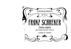 Franz Schreker - Tanz-on. 4 hands - Sheet Music - di-arezzo.com