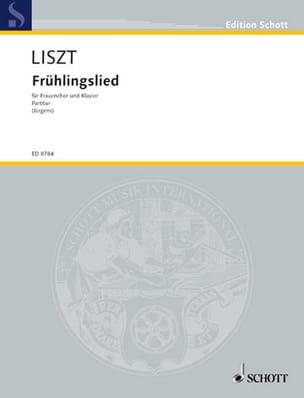 Frühlingslied LISZT Partition Chœur - laflutedepan