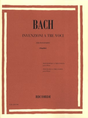 BACH - Inventions A 3 Voices - Sheet Music - di-arezzo.co.uk