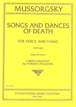 Modest Moussorgsky - Songs and Dances of Death. Mean Voice - Sheet Music - di-arezzo.com