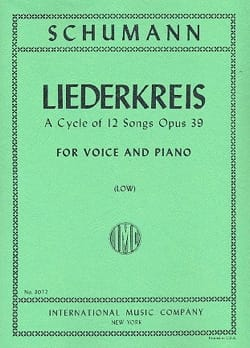 Liederkreis Opus 39. Voix Grave SCHUMANN Partition laflutedepan