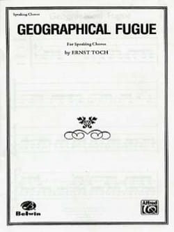 Ernst Toch - Geographical Fugue - Partition - di-arezzo.fr