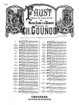 Charles Gounod - Make him my confession. Faust - Sheet Music - di-arezzo.co.uk