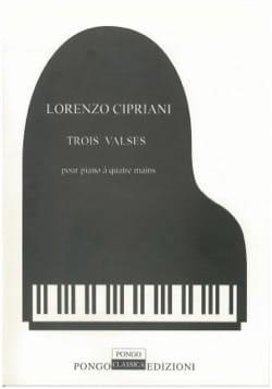3 Valses. 4 Mains - Lorenzo Cipriani - Partition - laflutedepan.com
