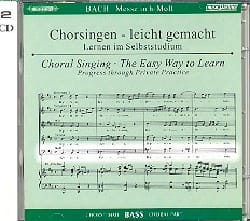 BACH - Messe En Si BWV 232. 2 CD Basse. - Partition - di-arezzo.fr