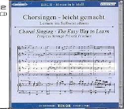 Jean-Sébastien Bach - Messe En Si Bwv 232. 2 CD Ténor - Partition - di-arezzo.fr