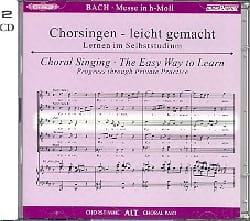 BACH - Messe En Si Bwv 232. 2 CD Alto. - Partition - di-arezzo.fr