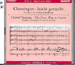 Jean-Sébastien Bach - Messe En Si Bwv 232. 2 CD Soprano 1 - Partition - di-arezzo.fr