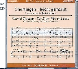 Messe En Si Bwv 232. 2 CD Soprano 2 BACH Partition laflutedepan