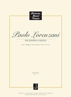 Paolo Lorenzani - Nicandro E Fileno. Conducteur - Partition - di-arezzo.fr