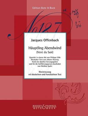 Jacques Offenbach - Haüptling Abendwind - Partition - di-arezzo.fr
