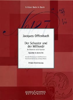 Jacques Offenbach - Le Financier et le Savetier - Partition - di-arezzo.fr