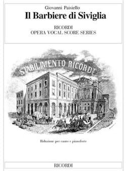 Giovanni Paisiello - Il Barbiere Di Siviglia - Partition - di-arezzo.fr