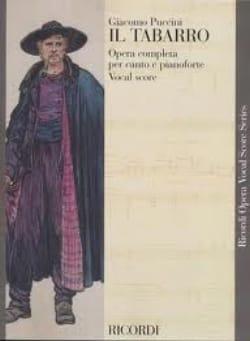 Giacomo Puccini - Il Tabarro. - Partition - di-arezzo.fr