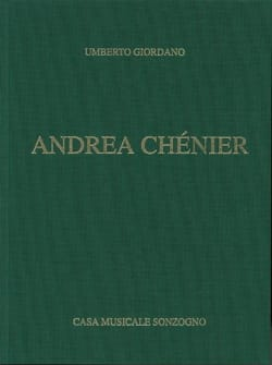 Umberto Giordano - Andrea Chénier - Sheet Music - di-arezzo.co.uk