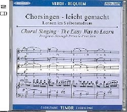 VERDI - Requiem. CD Ténor - Partition - di-arezzo.fr