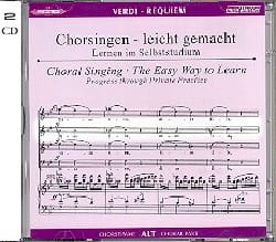 Requiem. CD Alto VERDI Partition Chœur - laflutedepan
