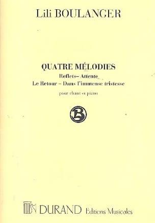 Lili Boulanger - 4 Melodies - Sheet Music - di-arezzo.com
