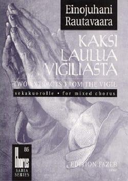 Einojuhani Rautavaara - Kaksi Laulua Vigiliasta - Partition - di-arezzo.fr