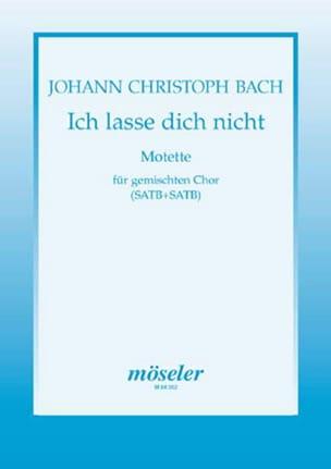 Johann Christian Bach - Ich Lasse Dich Nicht - Partition - di-arezzo.fr