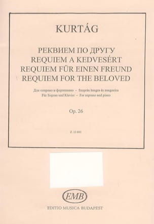 Requiem For The Beloved Opus 26 - György Kurtag - laflutedepan.com