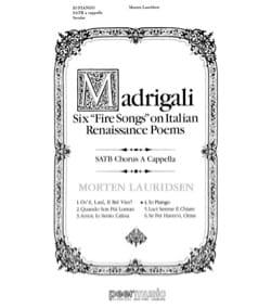 Io Piango SATB a capp - Morten Lauridsen - laflutedepan.com