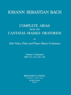 BACH - Complete arias from the cantatas, masses, oratorios Volume 3 - Sheet Music - di-arezzo.co.uk