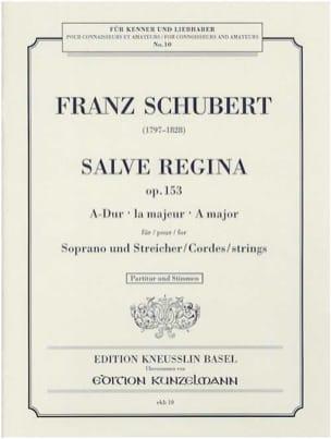 Salve Regina Opus 153 - Franz Schubert - Partition - laflutedepan.com