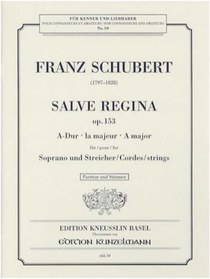 Franz Schubert - Salve Regina Opus 153 - Partition - di-arezzo.fr