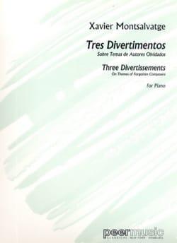 Xavier Montsalvatge - 3 Divertimentos - Sheet Music - di-arezzo.com