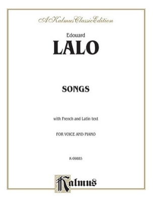 Edouard Lalo - Melodies - Sheet Music - di-arezzo.co.uk