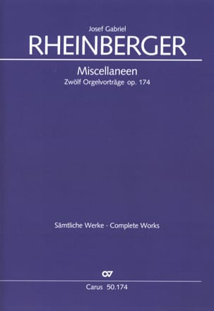 Joseph Rheinberger - Miscellaneen Op. 174 - Partition - di-arezzo.fr