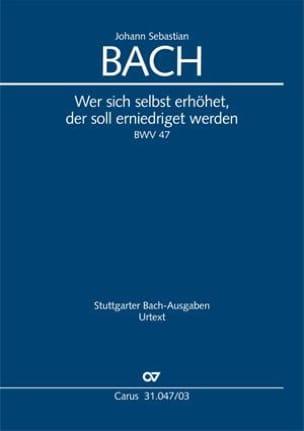 BACH - Cantate 47 Wer Sich Selbst Erhöhet - Sheet Music - di-arezzo.co.uk