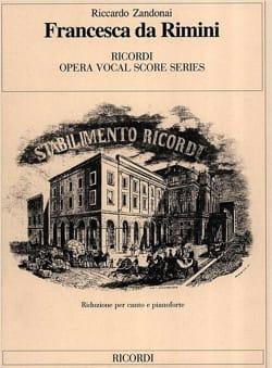 Riccardo Zandonai - Francesca Da Rimini - Partition - di-arezzo.fr