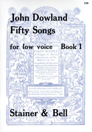 John Dowland - 50 Songs Voice Serious Volume 1 - Sheet Music - di-arezzo.com