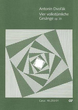 4 Volkstümliche Gesänge Op. 20 - Anton Dvorak - laflutedepan.com