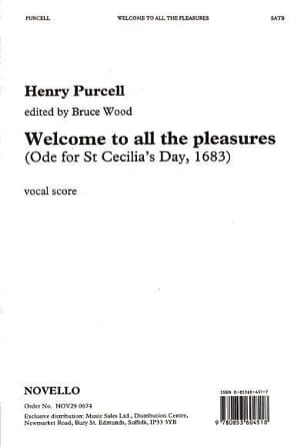 Welcome To All The Pleasures PURCELL Partition Chœur - laflutedepan