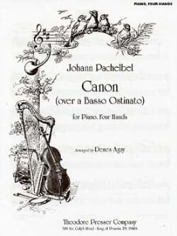 Johann Pachelbel - Canon. 4 Hands - Sheet Music - di-arezzo.co.uk