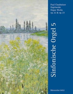 Claussnitzer - Oeuvre D'orgue Op. 22 et 23 - Partition - di-arezzo.fr