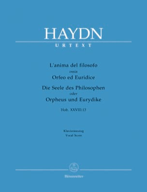 HAYDN - The anima Del Filosofo Or Orpheus and Eurydice - Sheet Music - di-arezzo.com