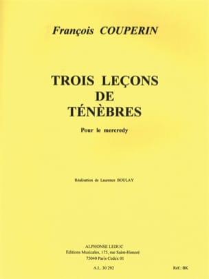 François Couperin - 3 Leçons de Ténèbres Pour le Mercredi. - Partition - di-arezzo.fr
