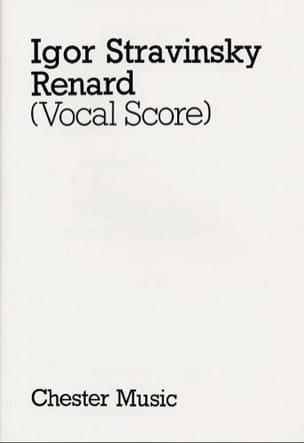 Renard Igor Stravinski Partition Opéras - laflutedepan