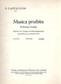 Musica Proibita Op. 5. Voix Grave - laflutedepan.com